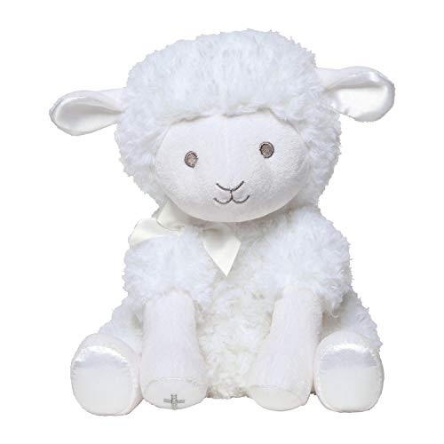 C.R. Gibson White Musical Baby Lamb Stuffed Animal for Babies, 12'' L