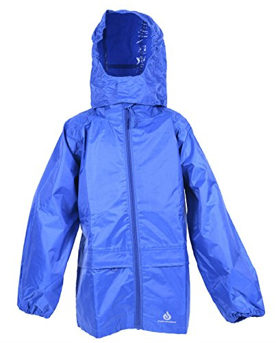 DRY KIDS - Packable Jacket 13-14 Yrs Royal Blue