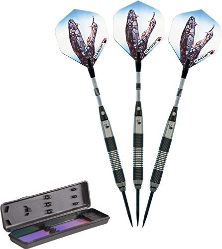 Elkadart Black Mamba 80% Tungsten Steel Tip Darts with Storage/Travel Case, 20 Grams