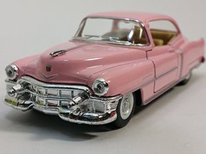 Kinsmart 1953 Cadillac Series 62 Cotton Candy Pink 2 Door Coupe 1/43 O Scale Diecast Car