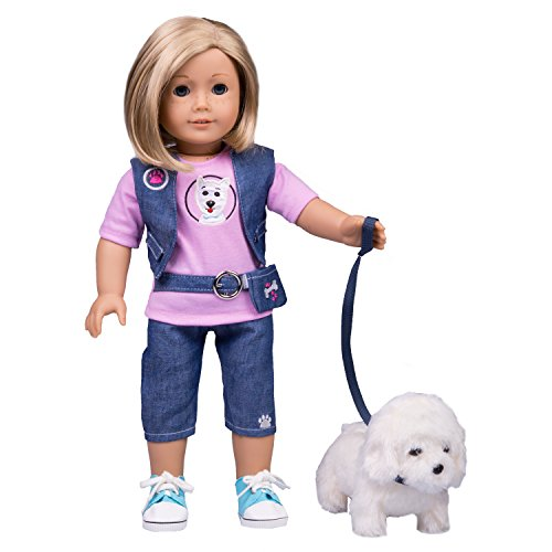 Dog Walker Doll Outfit for American Girl & 18