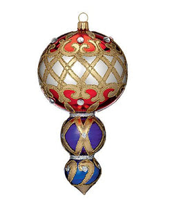 "Waterford Holiday Heirloom Mutli-tiered 7"" Drop Glass Ornament - 162985 - New for 2013"