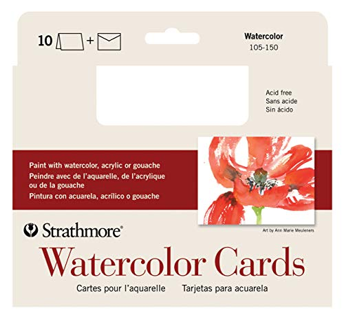 Strathmore 105-150-1 Watercolor Cards, Cold Press, 5
