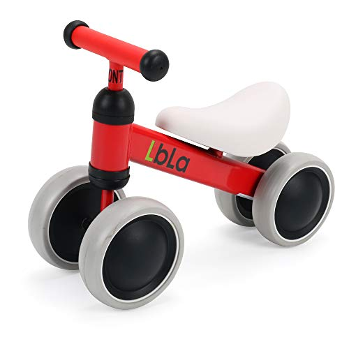 LBLA Baby Balance Bike Children Walker for 10-36 Months No Pedal Infant 4 Wheels Bicycle Toddler Bike The First Gift(Red)