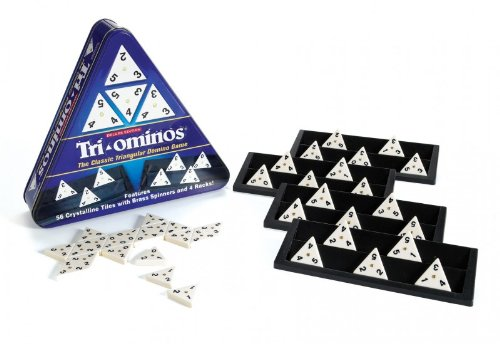 Pressman Deluxe Tri-Ominos (in Triangular Tin)