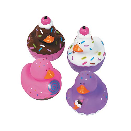 Fun Express 12 Sweet Treat Cupcake Ice Cream Rubber Ducks