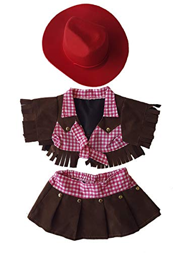 Cowgirl Outfit Teddy Bear Clothes Fits Most 14