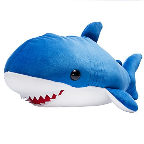 LALA HOME Large Blue Shark Stuffed Animal Giant Hugging Plush Soft Pillow Ocean Toy 22 Inch/56 Centimeter