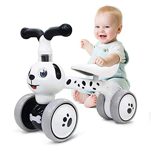 Ancaixin Baby Balance Bikes 10-36 Month Children Walker | Toys for 1 Year Old Boys Girls | No Pedal Infant 4 Wheels Toddler Bicycle | Best First Birthday New Year Holiday (Dog)