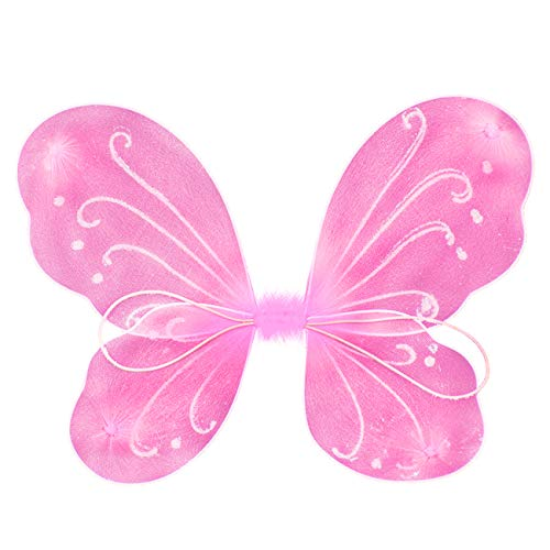 Butterfly Fairy Wings Party Favor Costume for Kid Girls Dress Up (Pink) …