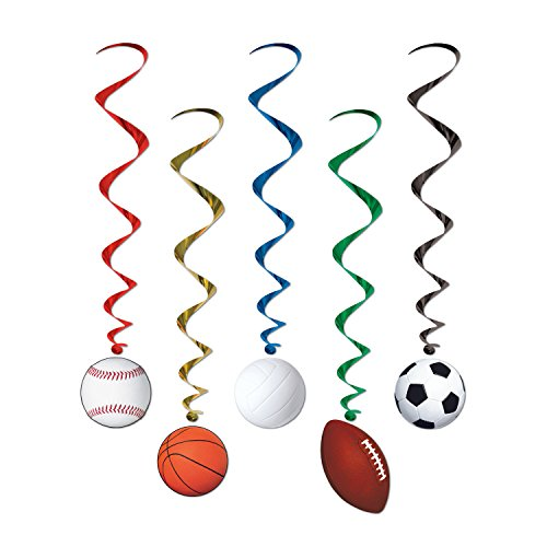Beistle Sports Whirls (5/Pkg) (3-Pack)