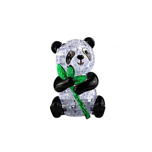 Coolplay 3D Crystal Puzzle for Adult Cute Panda for Children Model DIY Assembly Blocks Animal Toy Gift for Boys and Girls 57pcs
