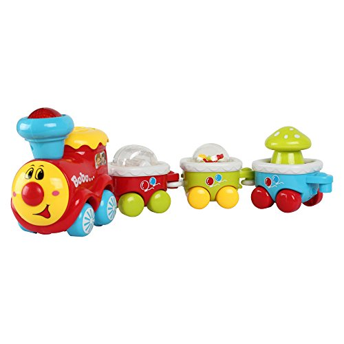 BAOLI Electric Train Track Toy Car Playset with Light and Music ,Car Toys for Kids Baby Toy Cars for 2 Year Old Toddler Early Educational Cars Toy