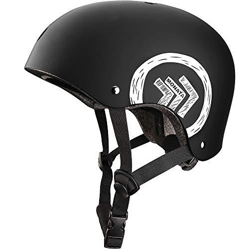 MONATA Skateboard Helmet with CPSC Certified for Skate Helmet Youth or Adults Multisport Roller Skating Skateboarding Cycling Scooter Longboarding Rollerblading
