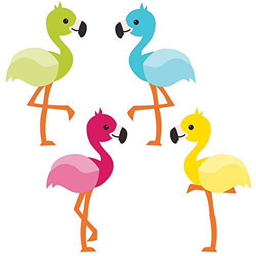 Carson Dellosa – School Pop Flamingos Mini Colorful Cut-Outs, Classroom Décor, 36 Pieces