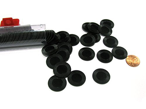Koplow Games Black Mini Poker Chip 7/8in Tube of 50ea