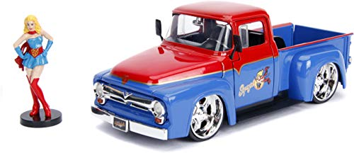 Jada Toys DC Comics Bombshells Supergirl & 1956 Ford F100 DIE-CAST Car, 1: 24 Scale Vehicle & 2.75