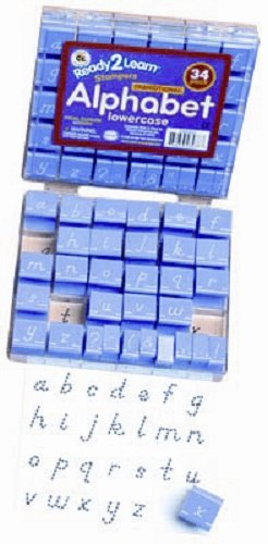 Center Enterprise CE6837 READY2LEARN Lowercase Transitional Vis Cl Alphabet Stamps, 1