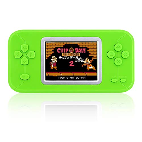 DREAMHAX Candy Color Game Pad with 246 Retro Games Pocket Hand-held Game Console with Color Screen Classic Retro Video Games Console for Children Kids Boy Girl (Green)
