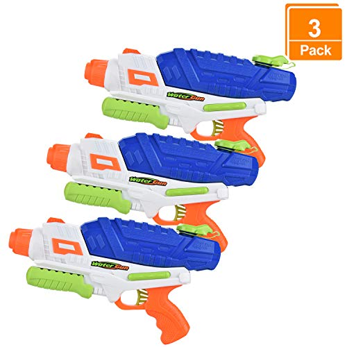 Browill [3 Packs Premuim Water Guns Blaster, Big High Capacity(36oz) Long Range(35ft.) Squirt Guns Pistol Toys for Kids Adults for Swimming Pool Beach Outdoor Famliy Games
