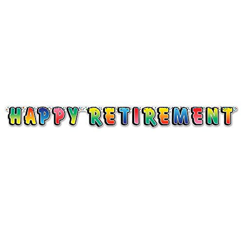 Beistle 55726 Happy Retirement Streamer, 5-Inch by 5-Feet (Value 2-Pack)
