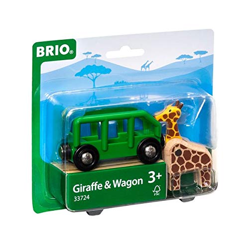 BRIO World - 33724 Giraffe and Wagon | 2 Piece Toy Train Accessory for Kids Ages 3 and Up
