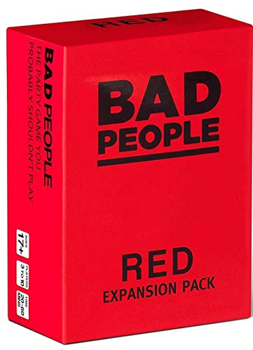 BAD PEOPLE - RED Expansion Pack (100 New Question Cards) - The Party Game You Probably Shouldn't Play