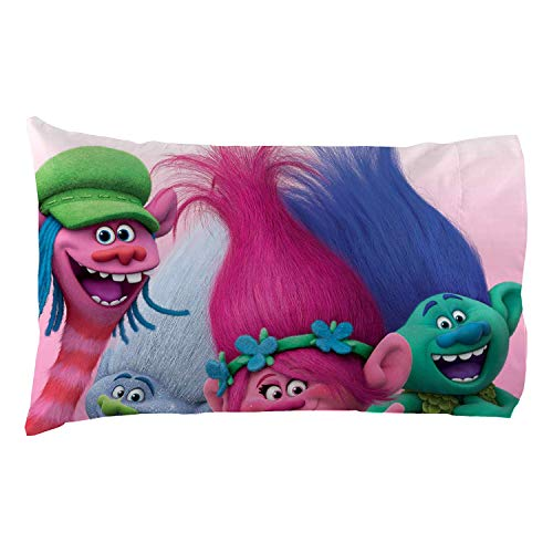 Trolls Reversible Microfiber Pillowcase for 20 in. x 30 in. pillow