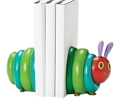 The Very Hungry Caterpillar Tall Bookends from The World of Eric Carle (Set of 2), 4.75