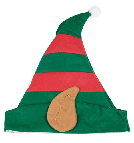 Christmas Elf Hat with Ears by Clever Creations | One Size Fits Most Christmas Hat For Both Kids and Adults