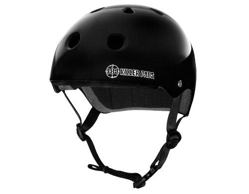 187 KILLER PADS Pro Skate Helmet - Gloss Black - Extra Small
