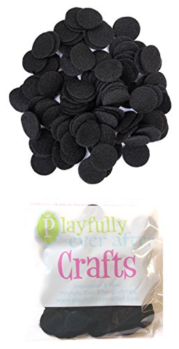 Playfully Ever After 1 Inch Mixed Color Assortment 100pc Felt Circle Stickers (1 Inch (100pc))