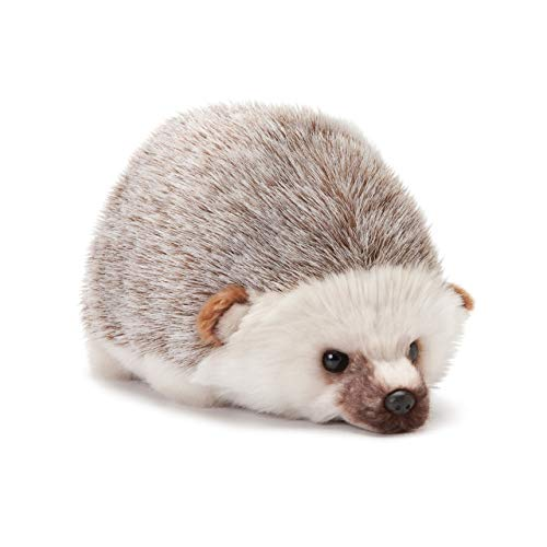 DEMDACO Huddled Small Hedgehog Wispy Chestnut Children's Plush Stuffed Animal