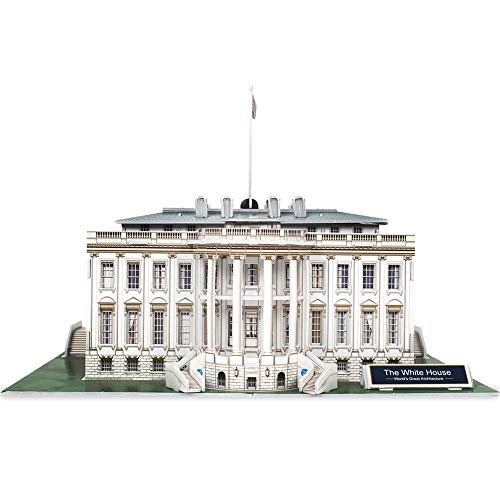 CubicFun 3D Puzzles Small US Architecture Building Paper Craft Model Kits Toys Gifts for Adults and Teens, White House