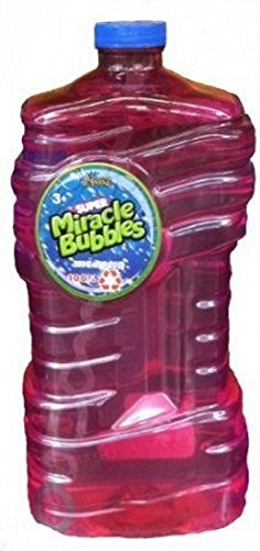 Imperial Super Miracle Bubbles Solution with Wand, Assorted Bottle Colors, 100 oz.