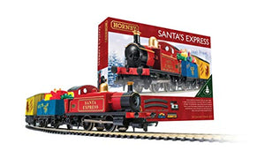 Hornby Santa's Express Christmas Toy Train Set R1248, Red, Blue & Yellow