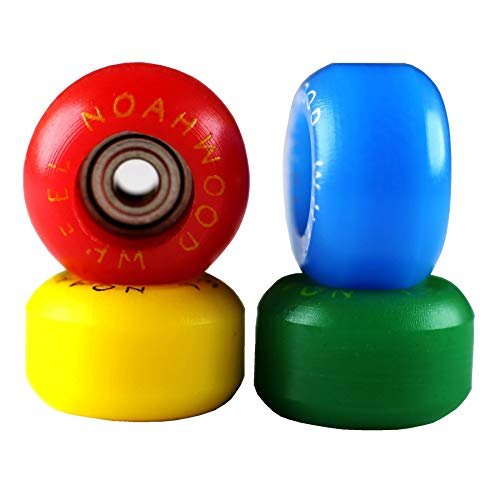 NOAHWOOD Fingerboards PRO Wheels(PRO Bearing 4Pcs/Set) (Red Yellow Blue Green 4 Color, II)