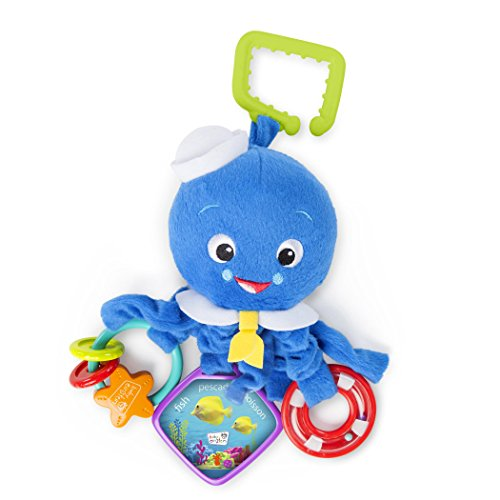 Baby Einstein Activity Arms Octopus Take-Along Plush Toy, Ages Newborn +