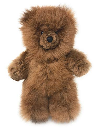 Baby Alpaca Fur Teddy Bear - Hand Made 12 Inch Honey