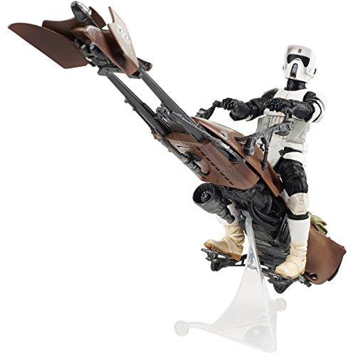 Animewild Star Wars Black Speeder Bike Deluxe 6 Inch Action Figure