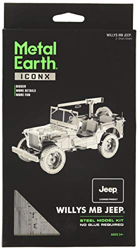 fascinations Metal Earth ICONX Willys MB 3D Metal Model Kit