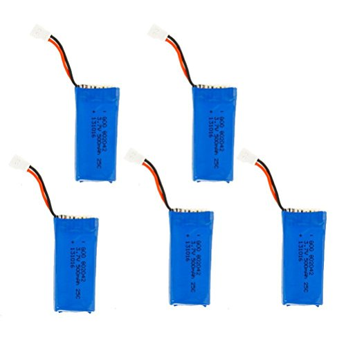 NC 5X 3.7V 500mAh Lipo Battery for for Hubsan X4 H107 H107L H107C H107D V252 JXD 385 RC Quadcopter