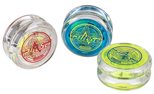 Duncan Toys Pulse LED Light-Up Yo-Yo, Intermediate Level Yo-Yo with Ball Bearing Axle and LED Lights, Varying Colors, Assortment (DUPUL)