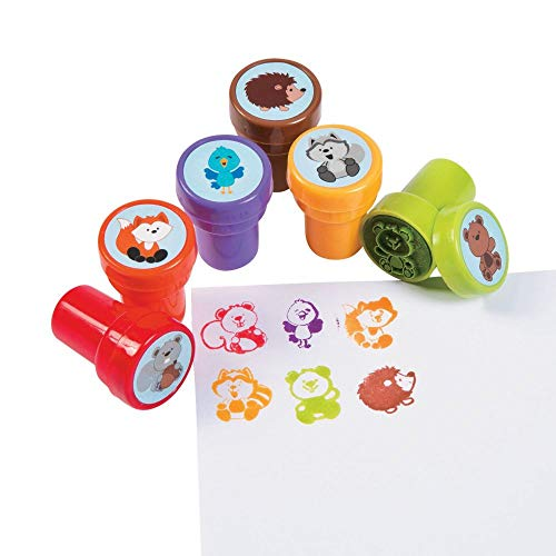 WOODLAND ANIMALS STAMPER - Stationery - 24 Pieces