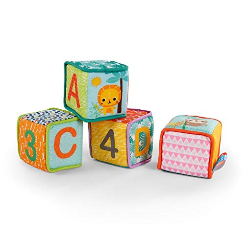 Bright Starts Grab & Stack�Soft Blocks�Toy,�Ages 3 months +