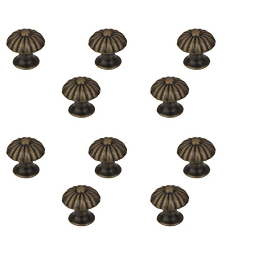 MagiDeal Victorian style Mini Door Knob Cupboard Drawer Cabinet Bin Pull Handle Pack of 10