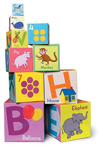 eeBoo Alphabet ABC Nesting and Stacking Blocks Toddler Tower