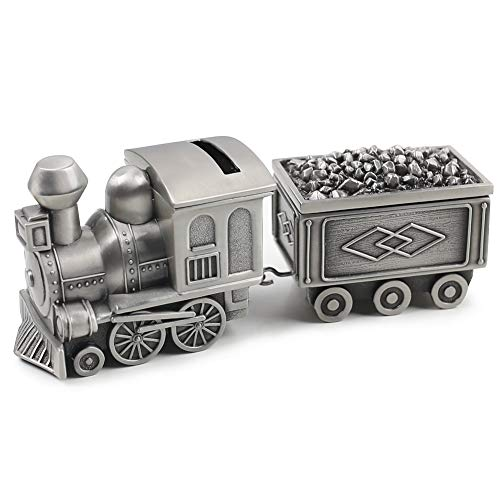Amor Vintage Metal Train Coin Bank Creative Train Shaped Money Saving Bank Piggy Bank Jewelry Box for Baby Boy