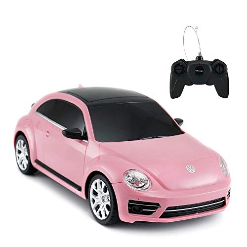 Radio Remote Control 1/24 Scale Volkswagen Beetle Licensed RC Model Car (Pink)