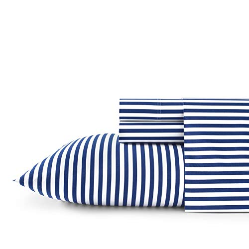 Marimekko AJO 100% Cotton Sheet Set, Twin/XL, Blue